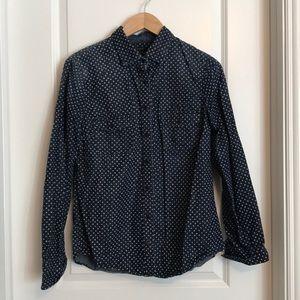 JCrew denim shirt with stars - 10